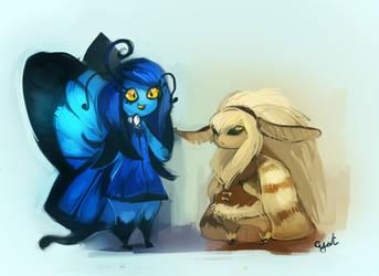 Lazuli and Melinda by Sylladexter