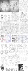 2013 Sketchdump Pt.1 [B+W] by Sylladexter