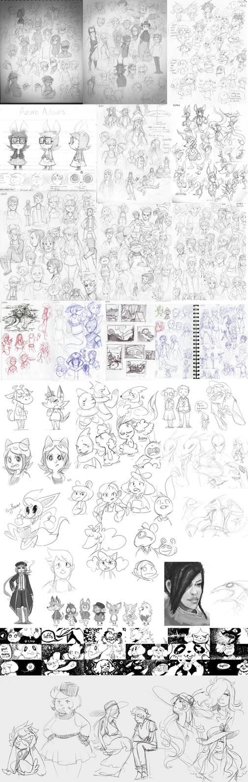 2013 Sketchdump Pt.1 [B+W]