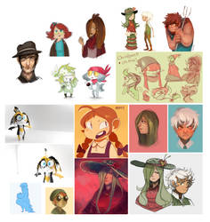 2013 Sketchdump Pt.2 [Color] by Sylladexter