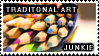 Traditional Art Junkie Stamp by Sylladexter