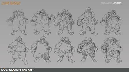 Clown RoadHog Sketch