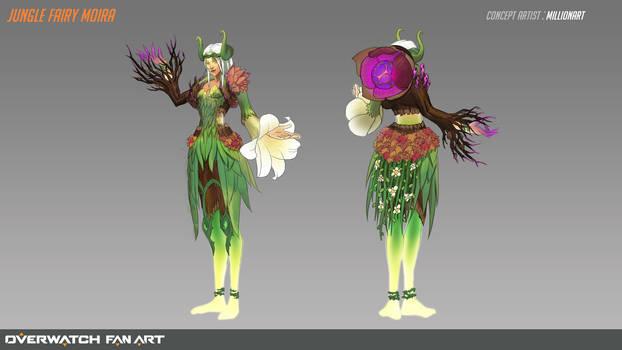 Jungle fairy Moira (Overwatch Fan Art)