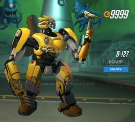 Bumblebee Bastion (Overwatch Fan Art)