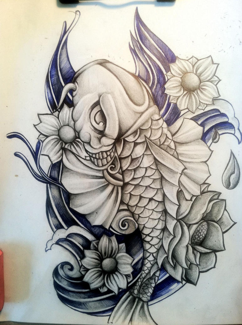 Koi fish by surrealcreativity on deviantart for Coy fish drawing