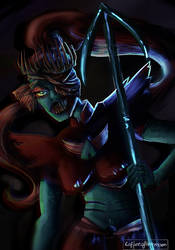 Queen Undyne from Horrortale