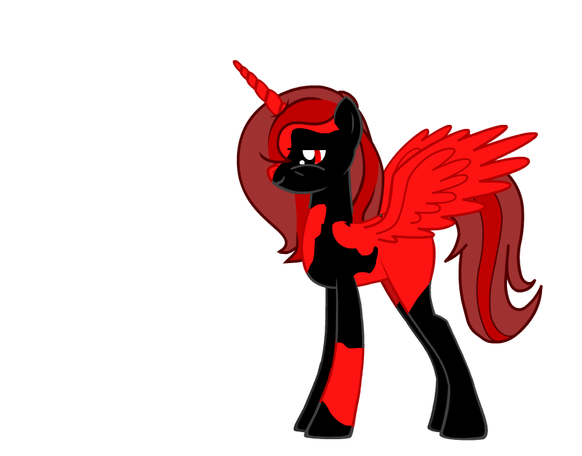 The Dark Alicorn of the Underworld: Flaming Rage by Retro-gamer-and