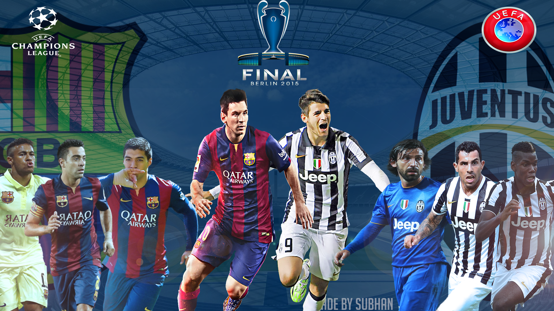 champions league final 2015 berlin 1080p wallpaper by subhan22 on deviantart champions league final 2015 berlin