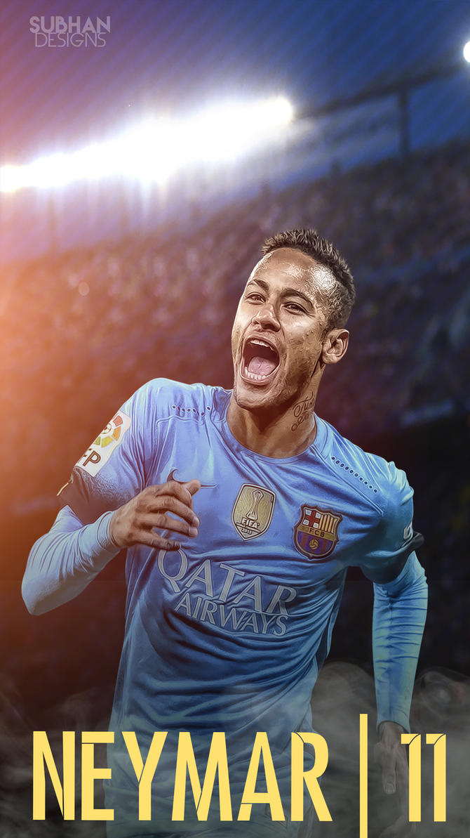 Wallpaper iphone neymar - Neymar 2016 Lockscreen 2016 By Subhan22