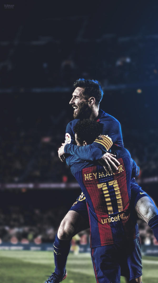 Leo Messi And Neymar Lockscreen Mobile Wallpaper By Subhan22