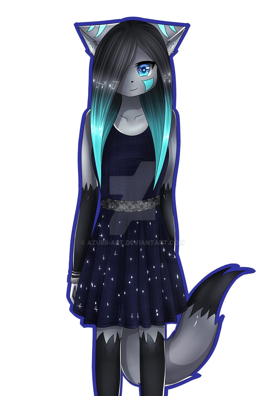 Azurii in Black Dress by Azurii-art