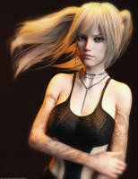 Promo Render - Kinley Hair for G3F and G8F by QuanticDementia