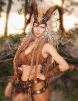 Promo Render - Axarra Headdress for G8F by QuanticDementia