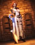 Promo Render dForce Warrior of Dusk Outfit for G8F