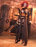 Promo Render - HEROINE - dForce Warrior of Dusk by QuanticDementia