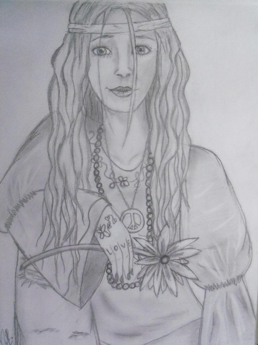 That hippie girl by xitsveronikiox on DeviantArt