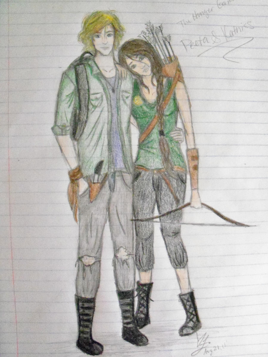 Peeta and Katniss by xitsveronikiox