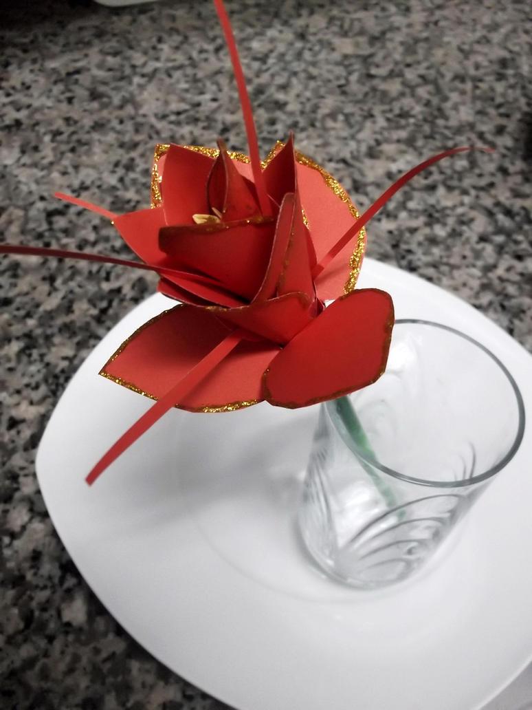 Orange Paper Flower by purplebrush