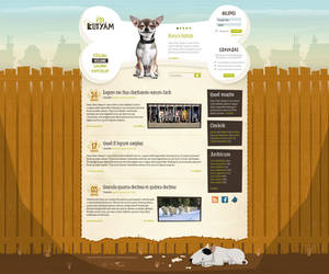 En-kutyam 'My dog' site design