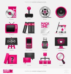 Downtr site icons by floydworx