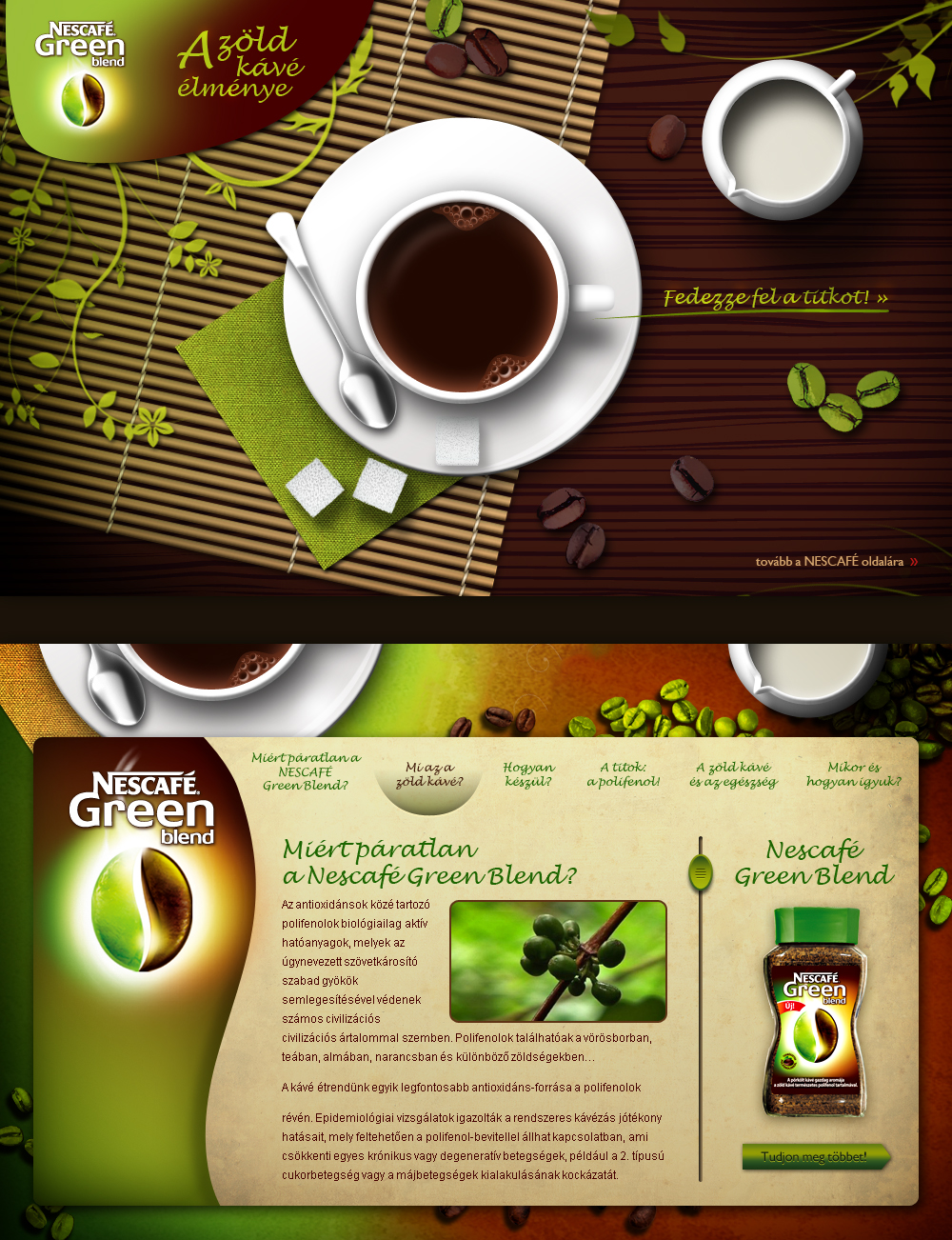 Nescafe Green Blend Promo Site By Floydworx On DeviantArt