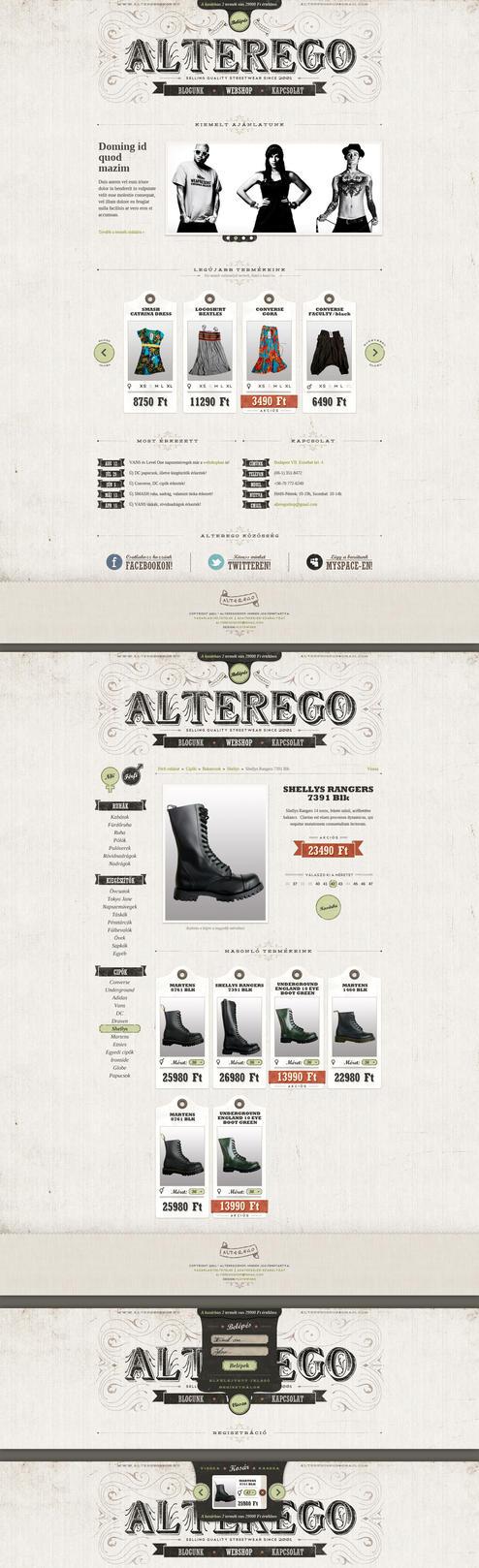 Alteregoshop redesign by floydworx