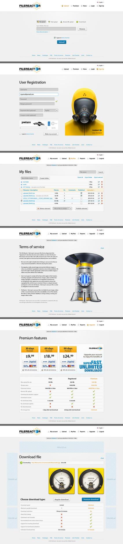 File Reactor website by floydworx