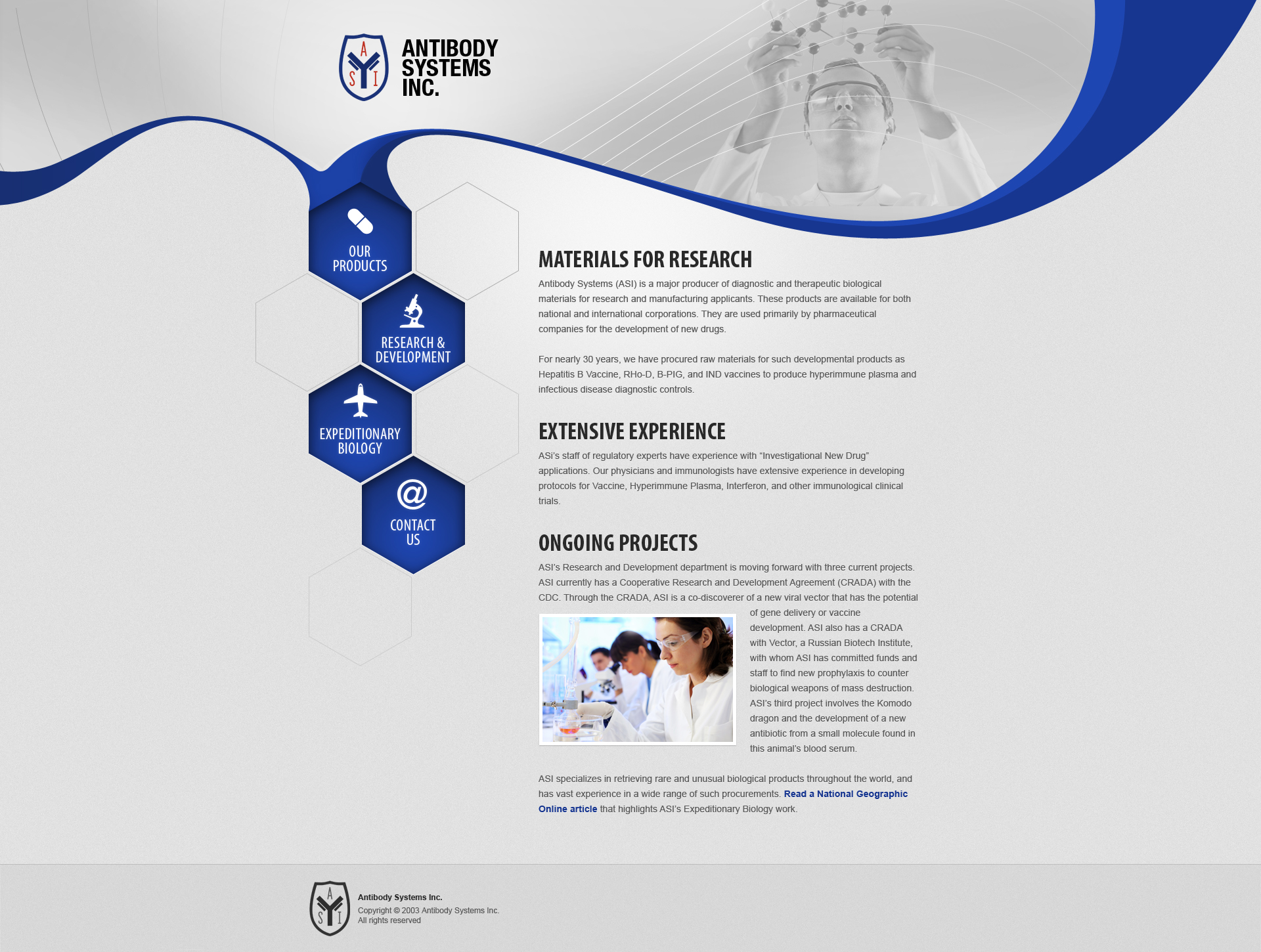 Antibody Systems site design plan by floydworx