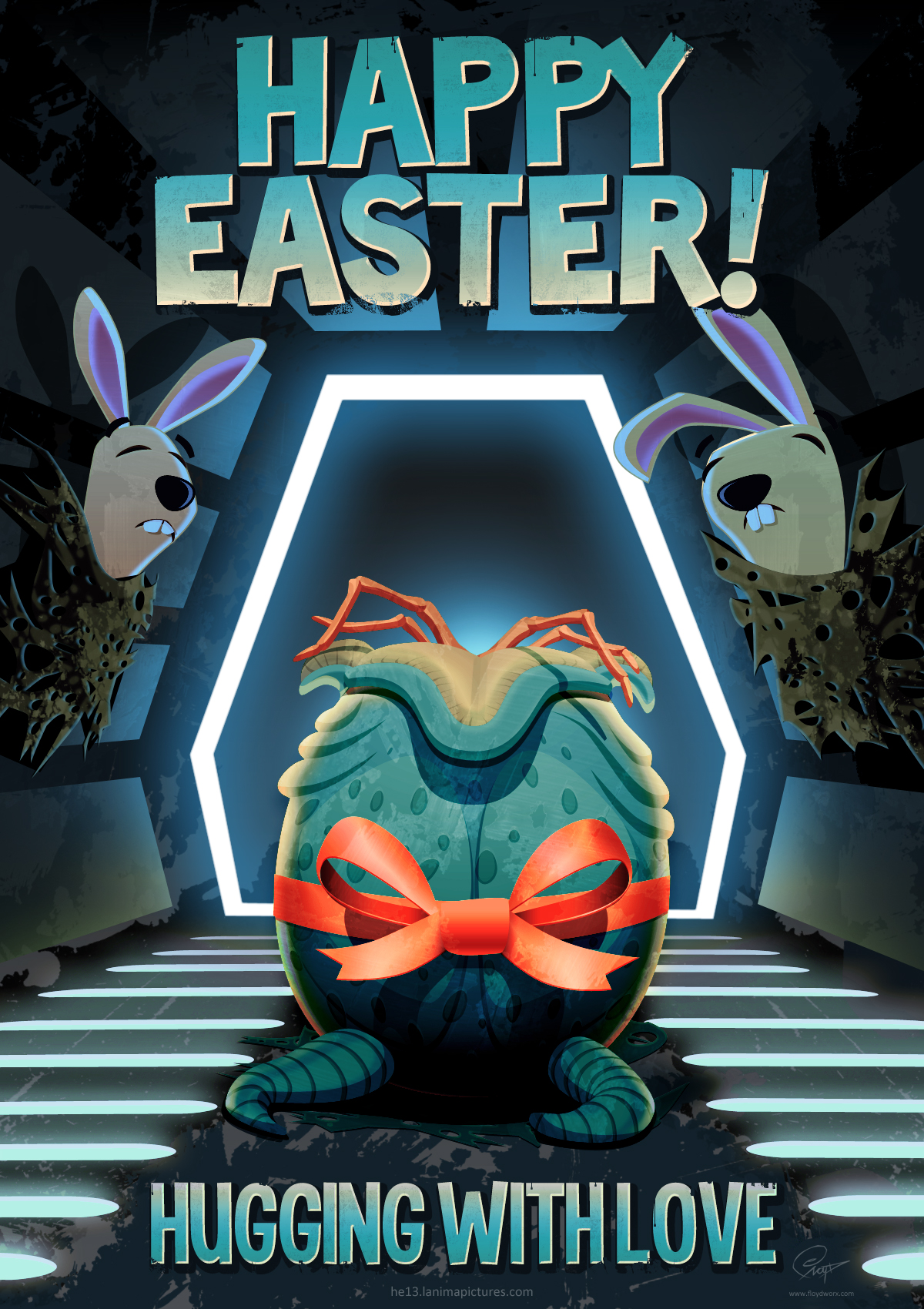Alien easter egg by floydworx