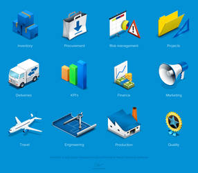 Icons for an infographics by floydworx