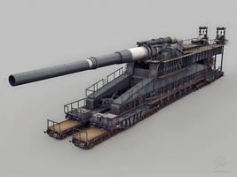 Dora railway artillery