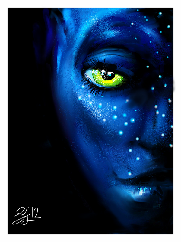 Avatar iPad Painting by GreyRadian