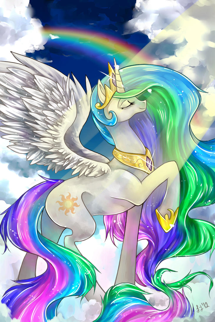 Kiriban: Princess Celestia by GreyRadian