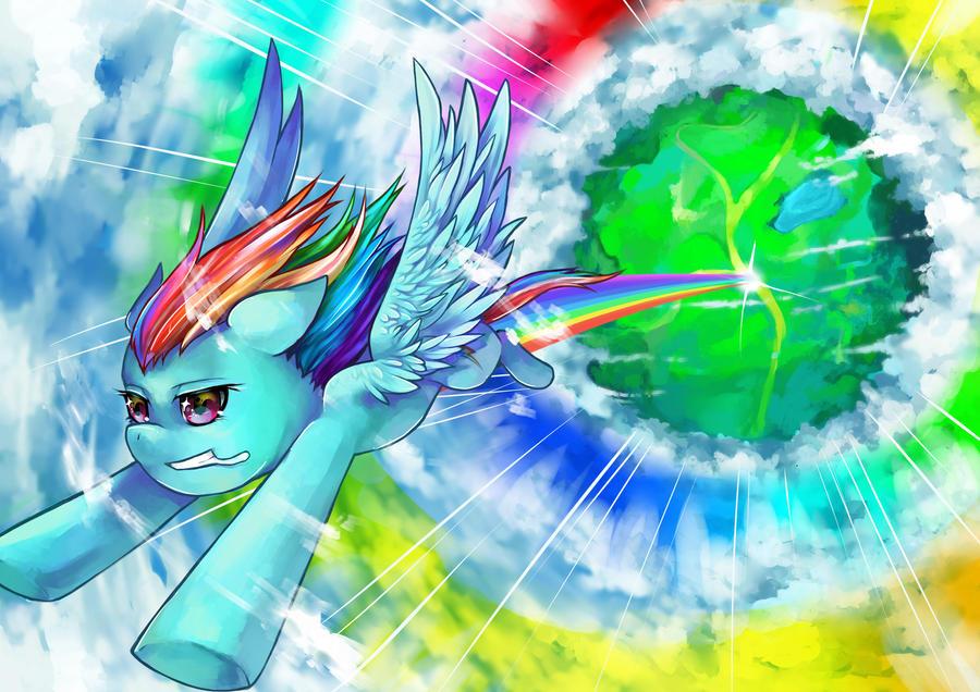 Sonic Rainboom by GreyRadian