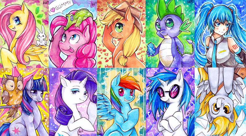 MLP ACEO Set by GreyRadian