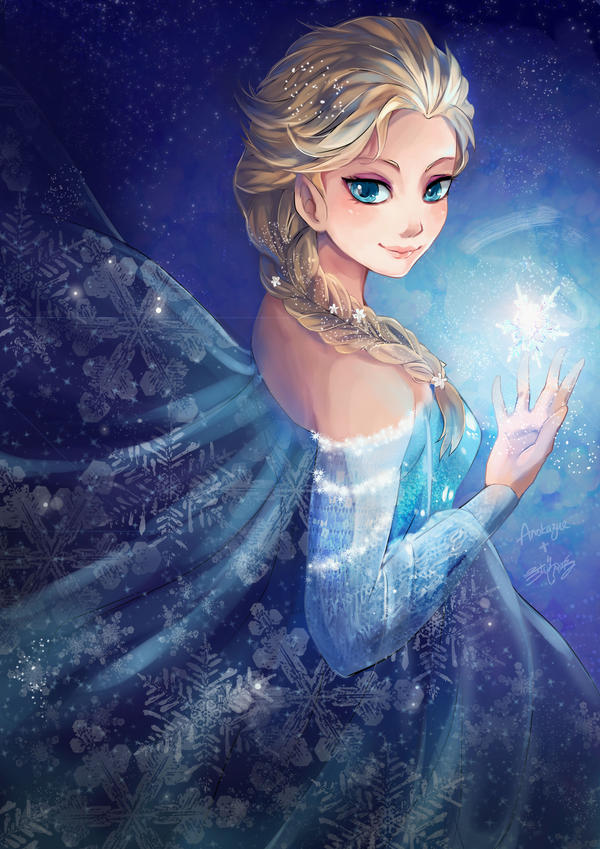 Elsa - collab by GreyRadian
