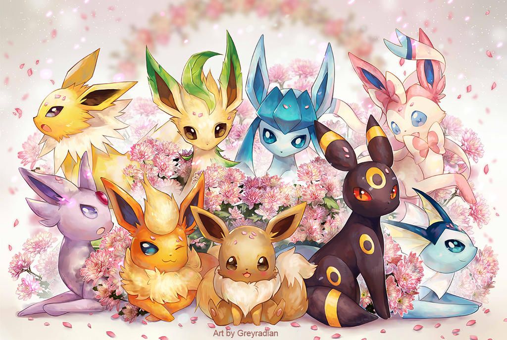 Eeveelutionssml by GreyRadian
