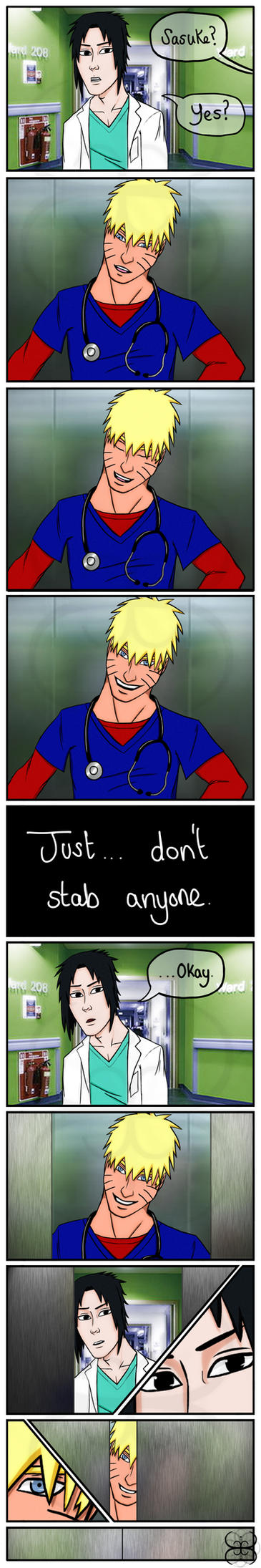 Just don't stab anyone XD by sandsoftimes