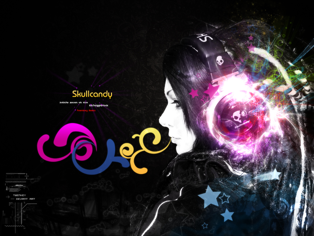 Skullcandy Remix By Twenkey09 On DeviantArt Headphones Wallpaper