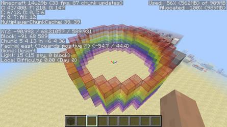 Minecraft Circle Generator- Rainbow tube! by FirEmerald