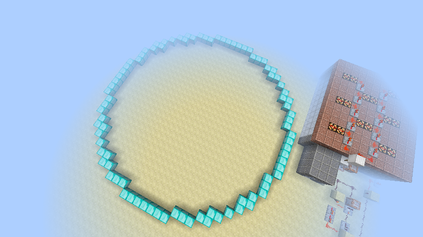 minecraft how to make a semi circle