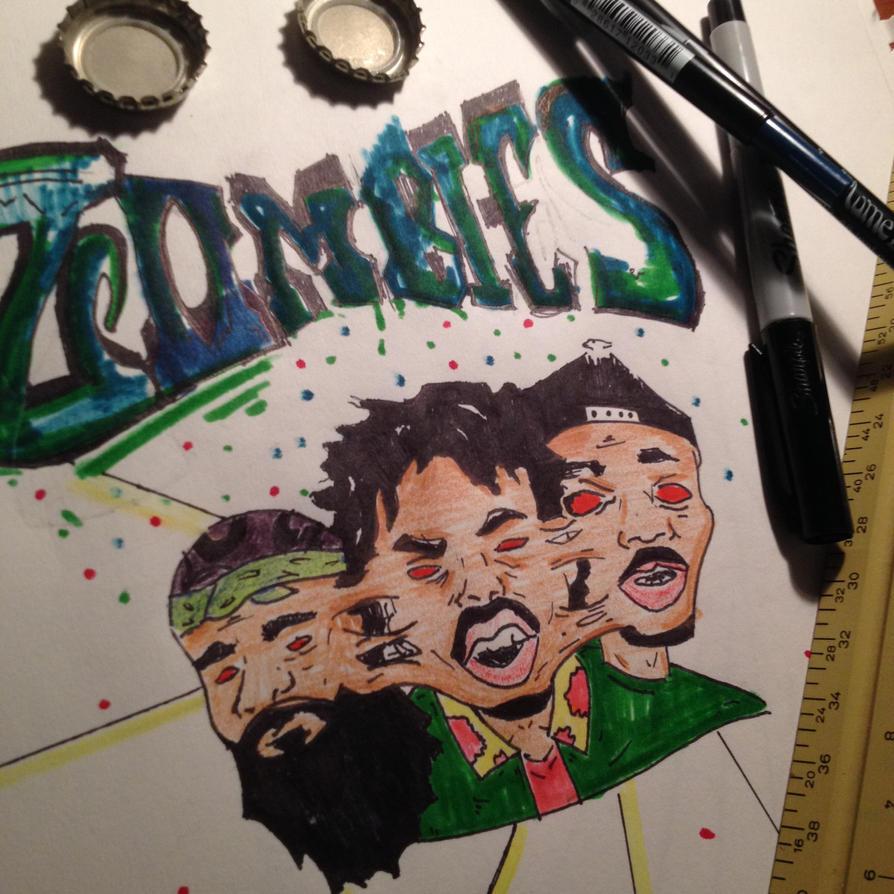 Flatbush Zombies By AnalogArt