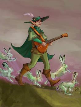 Bard and his magic hares