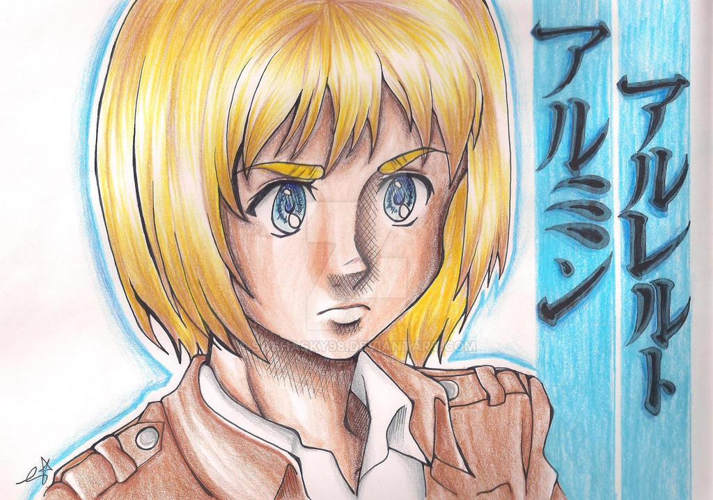 Shingeki no Kyojin Fanart- Armin Arlert by Sashasky98