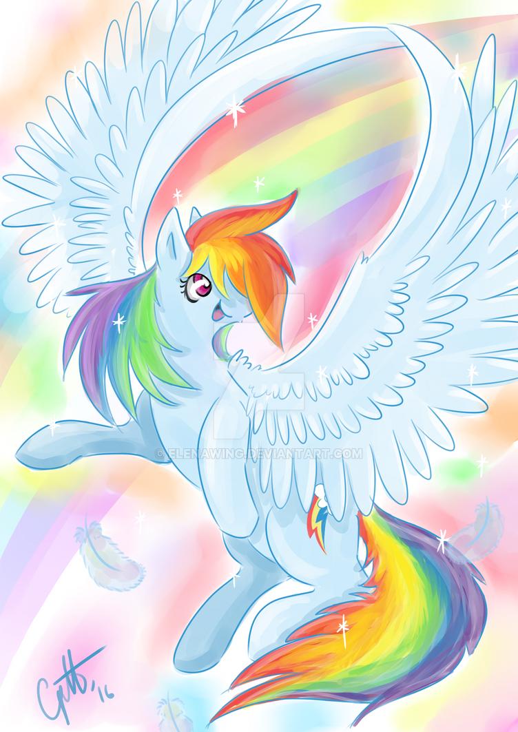 Rainbow Dash rainbow sparks by elenawing