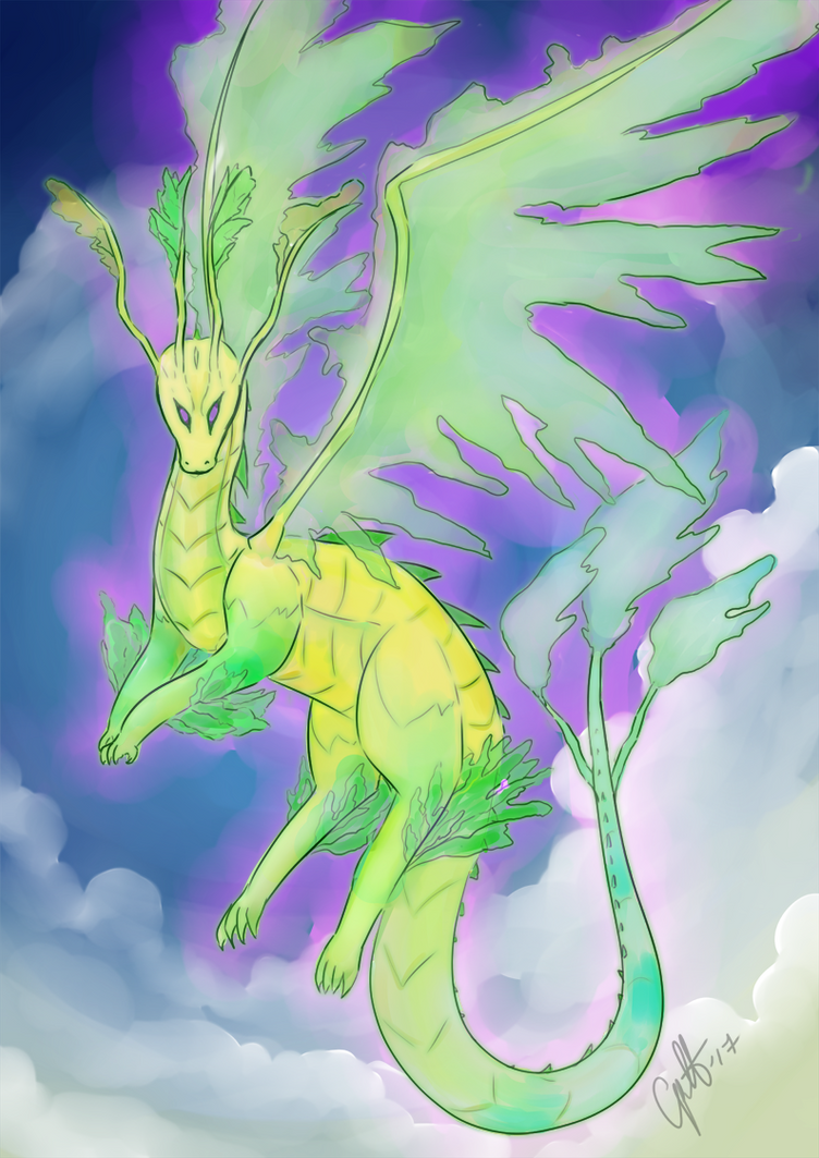Nowi Dragon form by elenawing on DeviantArt