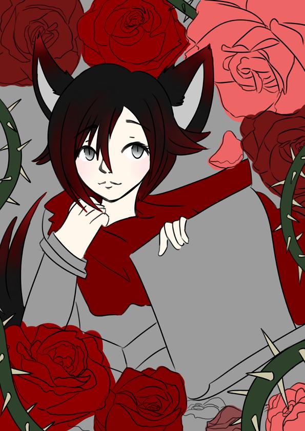 Rubywolf WIP by elenawing