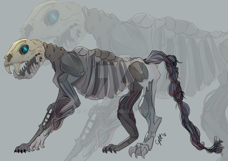 A skeletal figure appears by elenawing