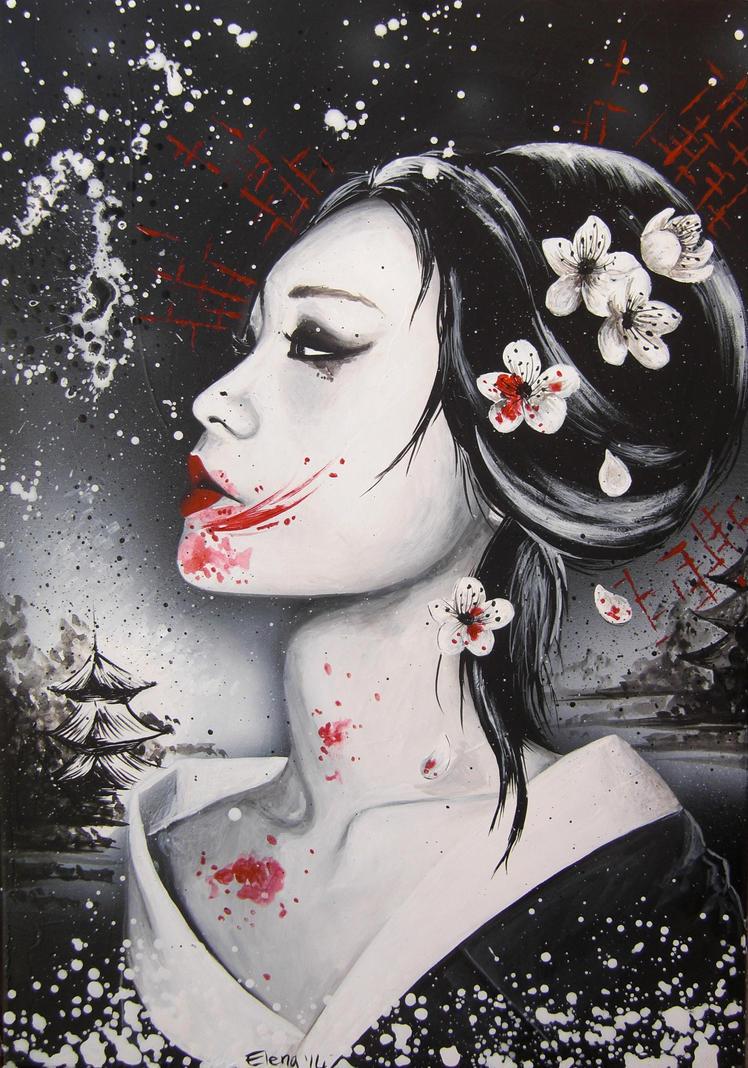 Dark Geisha By Spleenart On Deviantart