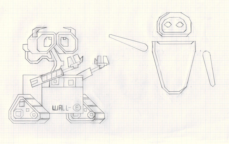 Wall-E Eve Cross Stitch redo by Thora-T